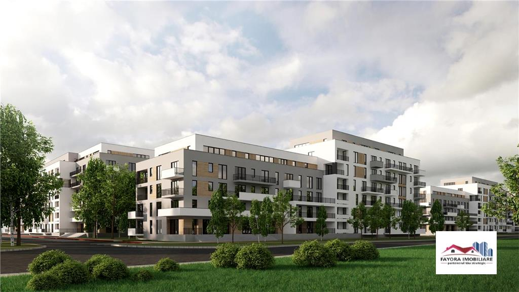Apartament 1 Camera Tip Studio de Vanzare in Ansamblu Rezidential Nou